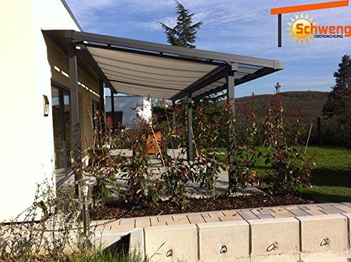 Hochwertige Terrassenüberdachung Schweng Alu 16mm Polycarbonatplatten B: 7,00m x 2,50m T