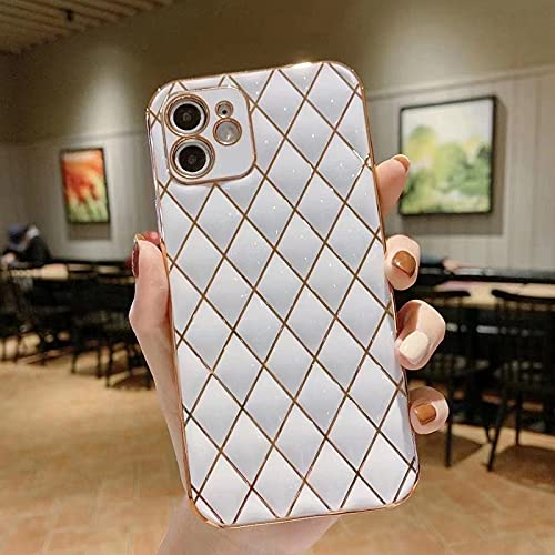 Caja del teléfono 6D para Samsung Galaxy S21 Ultra Diamond Lattice Fine Hole TPU para Samsung Galaxy A12 A72 A52, para Foto Color5, A72