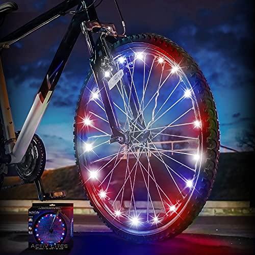 Activ Life Bike Lights (1 Ruota, Patriottico) Regali Fitness per Uomini Che Hanno Tutto Il Meglio Figlio Figlia Nipote Nipote Nipote Divertimento Sport Presenta Natale 2020