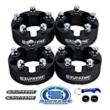 Supreme Suspensions - 4pc 2' Wheel Spacers Kit for 1983-2012 Ford Ranger 2WD 4WD 5x4.5' (5x114.3mm) BP with 1/2'x20 Studs 87.1mm Center Bore [Black]