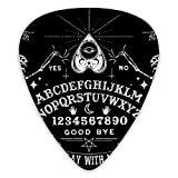 NiYoung Unique Vintage Skeleton Magic Ouija Board Black Guitar Pick Luxury Guitar Pick 3 Different Thickness Suitable for Acoustic Guitar Electric Guitar Bass