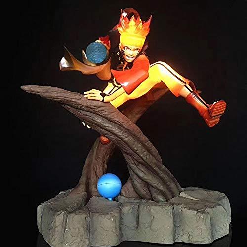 STKCST Anime Figure Naruto Stump Naruto Shippuuden Luminous Nine Tails Uzumaki Naruto Deluxe Edition Light-On Model