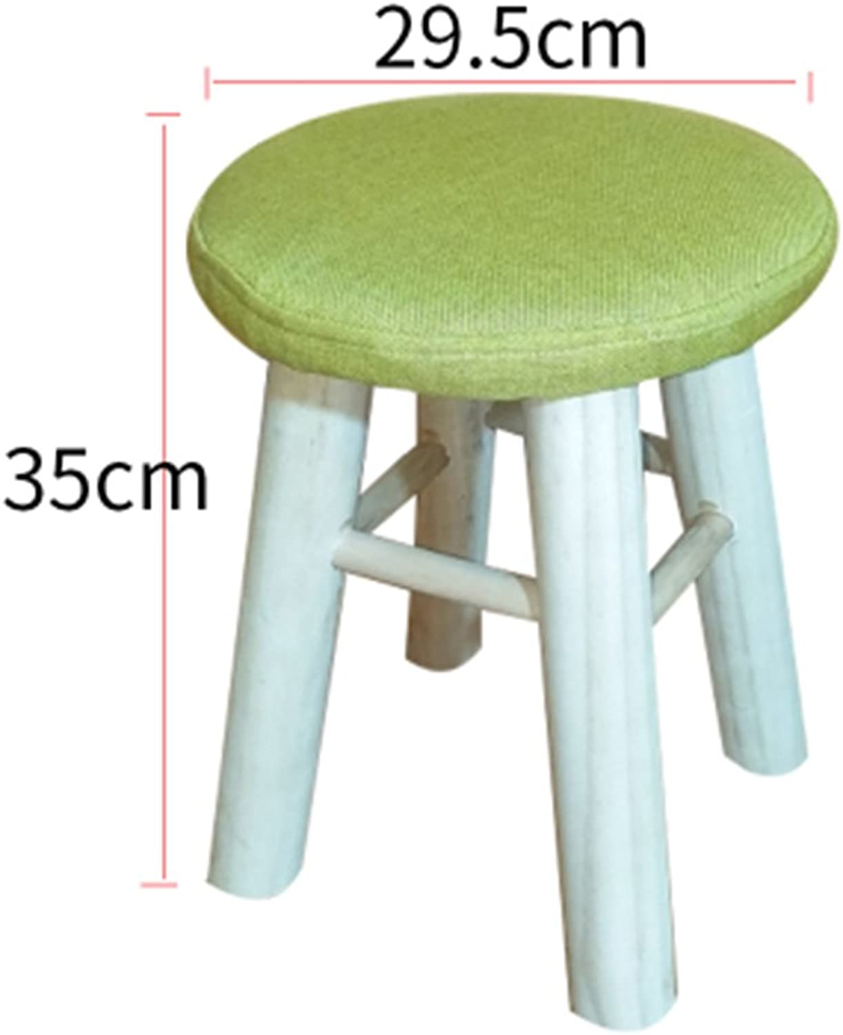 Stools Living Room Solid Wood Table Stool Adult Fabric Fashion Bench Household high Stool 29.5  35cm