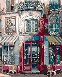 Kit De Pintura De Diamante 5D Para Adultos,Abstract Restaurant Kits De Punto De Cruz De Bordado De Mosaico De Taladro Completo Con Pintura De Diamante 5D Para Decoración De Pared Del Hogar Regalo Ú
