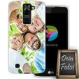 dessana Coque de protection en silicone TPU transparent 0,7 mm d'épaisseur pour LG K8 Motif...