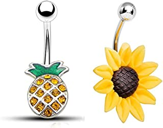 Best summer belly button rings Reviews