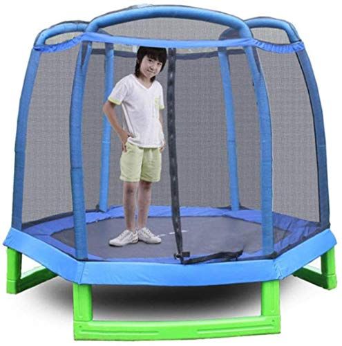 Garden Trampoline Kids Trampoline met Safety Enclosure Net Great Outdoor Backyard Trampoline 214X214x180cm(Upgrade)