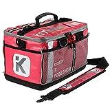 KITBRIX Organized Sports Gear Kit Bag - Football Rugby OCR Triathlon Transition Bag Swimming Cycling Running - Pink