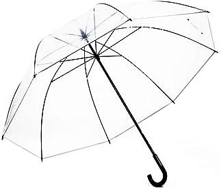 株式会社東京丸惣 長傘 手開き 雨傘 クリア 90cm メガブレラ 超大判 ビニール傘 反射テープ 8本骨 7209