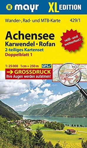 Achensee, Karwendel, Rofan XL (2-Karten-Set): Wander-, Rad- und Mountainbikekarte. GPS-genau. 1:25000 (Mayr Wanderkarten)