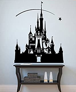 Princess Castle Wall Sticker Disney Decals Fairytale Wall Decor Girls Room Stencils (13dyce) / Shipping from USA by Kellysdesigns /