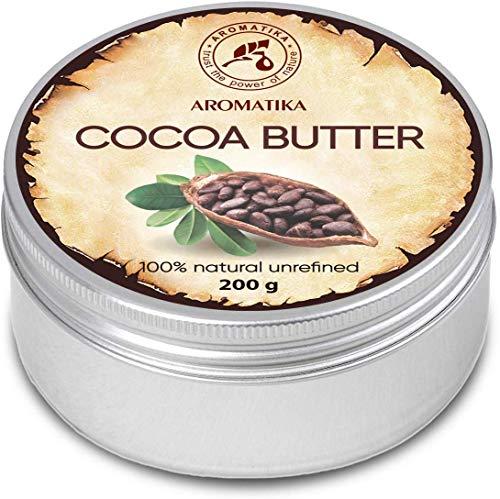 Cocoa Butter 200g Südafrika - Kakao Butter Unraffiniert - Native Rein & Natürlich Kakaobutter für Lippenpflege - Stretch Marks - Haare - Körperbutter