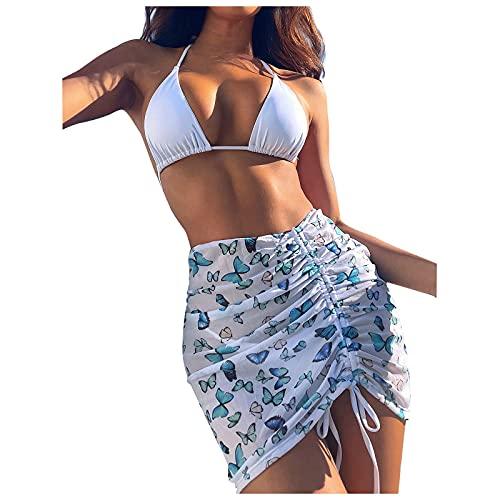 VODMXYGG Traje de baño de Las Mujeres Sexy Bikini natación Beachwear Vendaje Traje de baño de Tres Piezas de baño Adecuado Viajes Playa 0916614