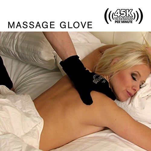 Fukuoku Black Left Hand Five Finger Vibrating Massage Glove - (fits Medium To Large Hand)