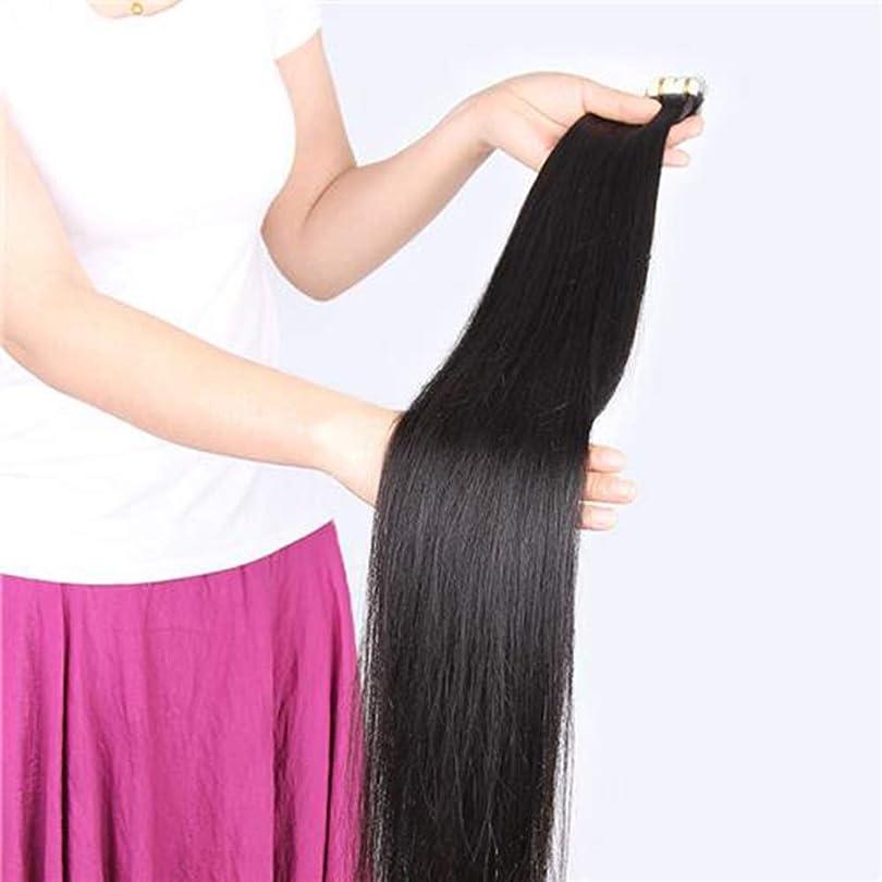 華氏合わせてハブブBOBIDYEE 人毛エクステンションクリップイン - ダブルよこ糸 - 100%本物の髪20ピースフルヘッド用女性合成髪レースかつらロールプレイングかつらロングとショートの女性自然 (色 : Natural color, サイズ : 60cm)