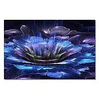 """ウォールアートキャンバスプリント絵画抽象フラワーウォールアートファンタジーロータスポスター部屋の装飾的な写真家の装飾30x50cm / 11.8 """"x19.7""""フレームレス"""