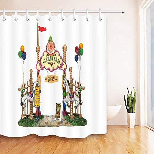 123456789 Gepolsterter Anzug Zirkus Karneval Eingang wasserdicht Duschvorhang Polyester-Material Maschine waschbar Bad unerlässlich