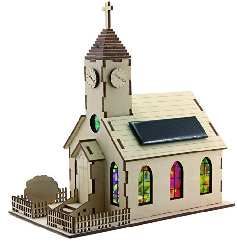 Sol Expert Group 40296 - Solar-Kirche Harmony, Bausatz, Holz, Natur