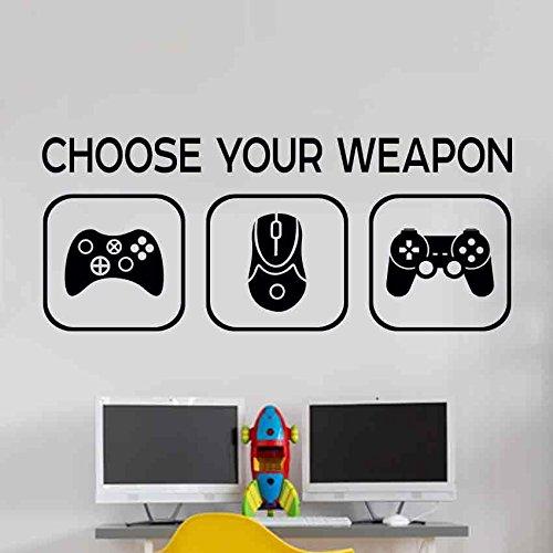 Choose your weapon Kinderzimmer Wandaufkleber Mural Vinyl Decal Kindergarten Kinder Gamer Kunst Teenager Video Spiel Wandbild