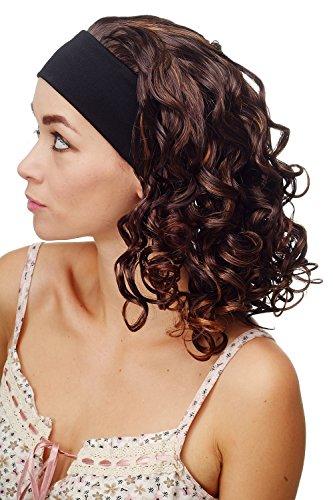 WIG ME UP - BRO-704-1BT33-H27K Damenperücke Perücke Stirnband (fest) voluminöse Lockenpracht schulterlang braun blond gesträhnt