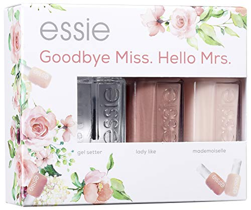 "Essie Nagellack-Geschenkset ""Goodbye Miss. Hello Mrs."", gel setter + lady like + mademoiselle, 3x 13.5 ml"