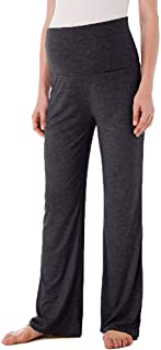 Women's Maternity Wide/Straight Versatile Pajama Yoga Workout Palazzo Lounge Pants Stretchy Pregnancy Trousers