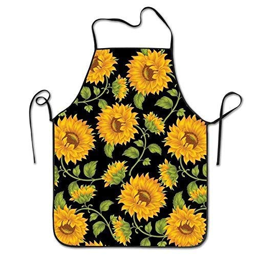 Ahdyr Delantals Yellow Sunflowers Colorful Teens Without Terry Cloth Delantal para Cocina BBQ Barbecue Cooking Gardening Waterproof Durable and Great Gift Suit para Hombres mujeres Creative Design Bib