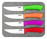 Steak Knives Set of 4, Ceramic Knife Blade -...
