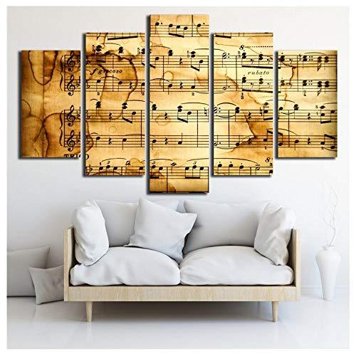 Retro Hd Gedruckt 5 Stück Leinwand Akustische Spektrum Malerei Vintage Poster Musik Wandbilder Für Wohnzimmer Dekoration 40X60 Cmx2 40X80 Cmx2 40X100 Cm Ungerahmt