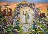 SXXRZA Cuadros de Pared 30x50cm Sin Marco Decoración de Iglesia Pinturas en Lienzo La resurrección de Jesús y Pinturas de decoración de habitación Cristiana