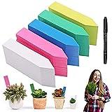 Etiqueta de jardín, 500 Pcs Planta Marcadores Marcadores de Jardín para Etiquetado de Las Plantas Reutilizable Etiquetas Tag para Hierbas Verduras Flores Semilla