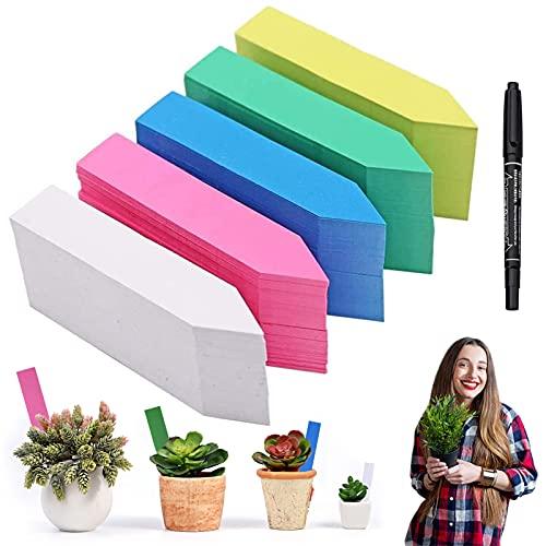 Etichetta giardino, 500 etichette per piante piccoli accessori per giardinaggio Piante Labels per Piante in Plastic Cartellini Tag Riutilizzabili Semi Mini Label Vegetali Markers