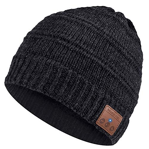 Bluetooth Beanie, Gifts for Men and Women, Fashion Bluetooth Beanie Hat, Bluetooth Hat with Bluetooth Headphones, Hands-free HD Music & Calling, Upgraded Bluetooth 5.0, Ultra Soft, Washable, Christmas