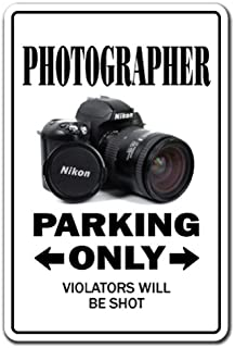 Photographer Sign Parking Photography Camera Lens Pictures Photo Movie Film   Indoor/Outdoor   12