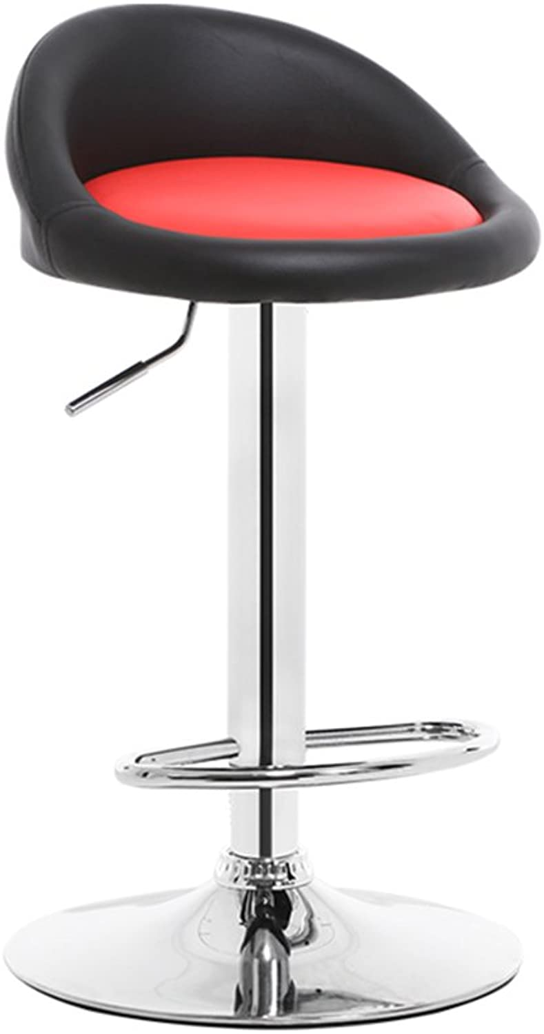 Chair Bar Chair Breakfast Stool Soft Black Red Sponge redating Height Adjustable Chair (Size   Height 80CM)