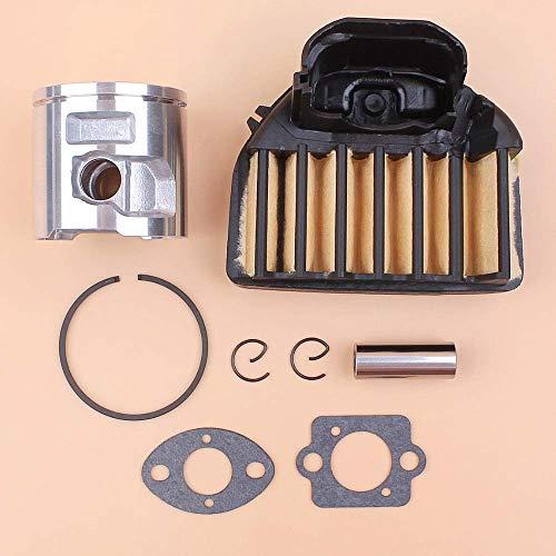 HaoYueDa Kit de Juntas de Filtro de Aire de pistón de 47 mm Compatible con Husqvarna 455, 455E, 455 Rancher motosierras de Gas de Repuesto 537293002, 537255702