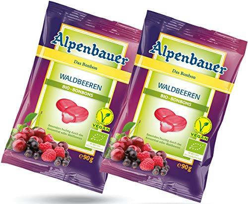 Organic Wild berries Candies - German fruit Candies 2 x 90 g, Alpenbauer / Germany