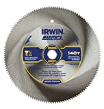 IRWIN Tools Classic Series Steel Corded Circular Saw Blade, 7 1/4-inch, 140T, .087-inch Kerf (11440)