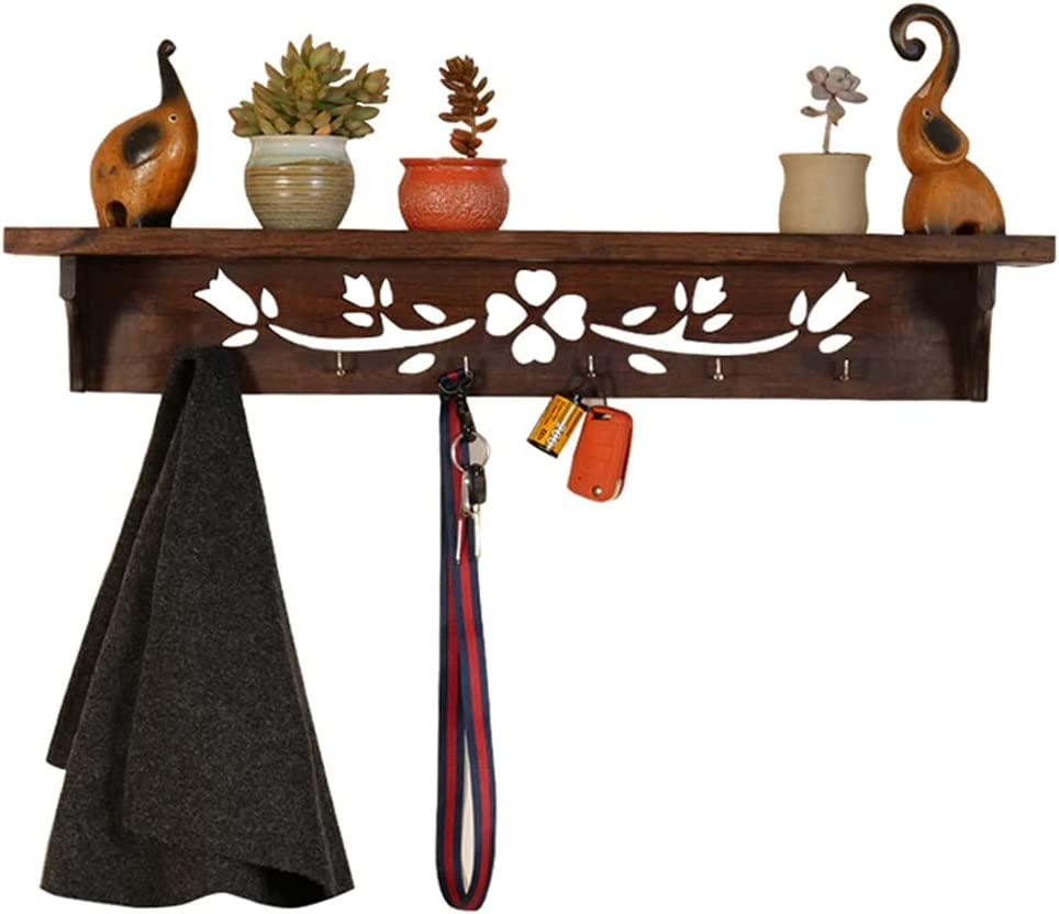 MYHZH Limited price sale Coat Rack free shipping Wall-Mounted Wall with Hook Shelf 6