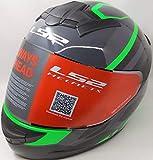 LS2 Helmets - FF352 Rookie - Mein - Gloss Black Green - Single Mercury Visor Full Face Helmet -...