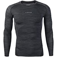 SKYSPER Camiseta/Pantalones de compresión de Manga Larga Leggings de compresión para Hombre Deportes Secado Rápido Fitness, Jogging, Entrenamiento, Ciclismo,Correr