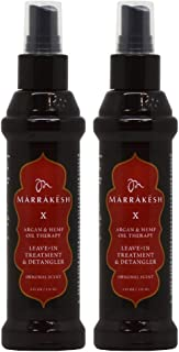 MARRAKESH by MARRAKESH X ORIGINAL LEAVE-IN TREATMENT & DETANGLER WITH HEMP & ARGAN OILS 4 OZ (Package Of 2)