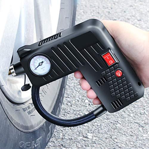 Delleu Compresor de Aire portátil inalámbrico de Coche eléctrico Auto Bicicleta de Baloncesto inflador de neumáticos 12V