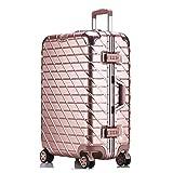 AHJSN 20'24' 26'29' Marco de Aluminio Duro Trolley de Viaje Maleta para niños Trolly Bag para Viajar 29'Oro Rosa