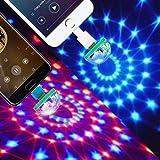 ZONJIE Luces de Discoteca USB, Luz de Escenario con Mini Bola de Discoteca, Luces de fiesta RGB de 4W Activada por Sonido, Luz LED de Ambiente de Coche para Navidad, Cumpleaños, Bodas, Clubes, Karaoke