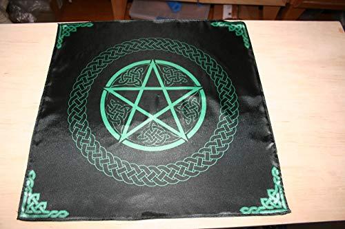Pure Silk Altar Cloth or Tarot Cloth - Silk Satin Altar Cloth - Celtic Pentacle
