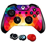 xbox controller stickers - easyCool Xbox One Controller Skin Sticker Vinyl Decal Cover for Microsoft Xbox One DualShock Wireless Controller - Colorful