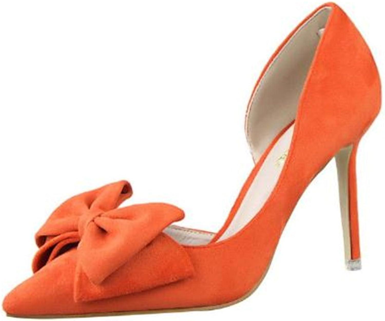 Quality.A Temperament Women's shoes high Heels Bow Stilettos Professional shoes