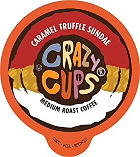 Crazy Cups Flavored Coffee, for the Keurig K Cups Coffee 2.0 Brewers, Caramel Truffle Sundae, 22 Count