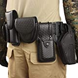 LytHarvest 10-in-1 Police Duty Utility Belt Rig, Security Guard Modular Law Enforcement Duty Belt with Pouches - Handcuff Case, Radio Pouch, Pistol Holster, Key Pouch, Light Holder (Large)